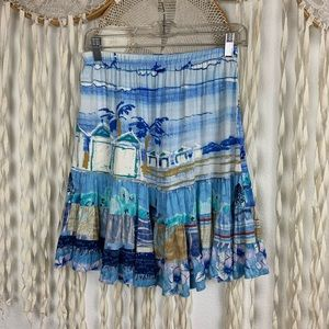 Jams World Beach Ocean Print Skirt XS/S